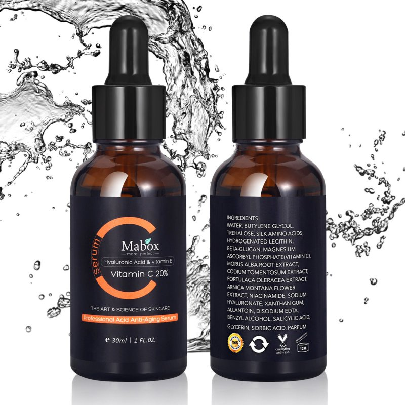 Anti-Aging Eye Skin Care Treatment Serum New Vitamin C Anti-Wrinkle With Hyaluronic Acid And Vitamin E-Organic