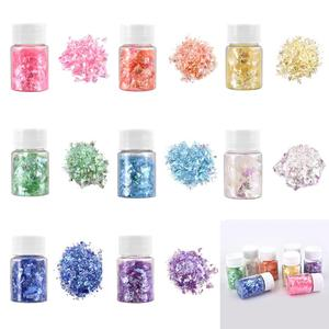 Epoxy UV Material Art Fantasy Craft Paper Sparkle Shatter Candy Color Filling For Resin Mold DIY Jewelry Making 15ml/bottle
