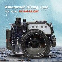 Seafrogs Cho Sony RX100 Tôi II III IV V VI VII Máy Ảnh Kỹ Thuật Số Lặn Ốp Lưng Dưới Nước Nhà Ở Nắp Che Chống Nước Kín Nước túi