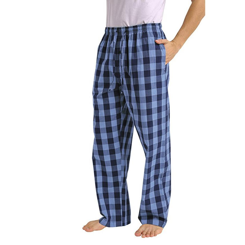 Autumn Men's Casual Plaid Loose Sport Pajama Comfortable Pants Fashion Male Mid Waist Homewear Sleepwear Trousers For 2019
