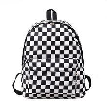 2019 Unisex Plaid Female Travel Daypack Laptop Backpack Book Schoolbags School Bag Fashion Casual Nylon Rucksack Women Girl Bags