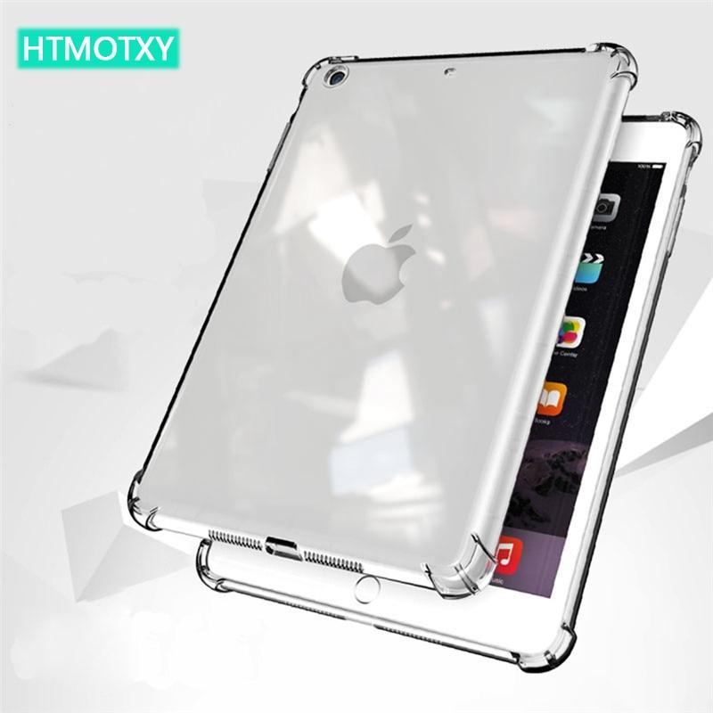 Чехол HTMOTXY для iPad 8-го поколения, прозрачный мягкий чехол из ТПУ для iPad Mini 5 Air4 Pro 10,2 2018 2019 10,5 2017 дюйма, задняя крышка