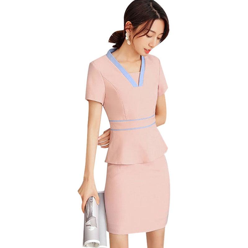 2020 Korean Style Spa Health Club Beauty Salon Work Wear Hospital Nurse Uniform Tattoos Beautician Work Suit High Quality
