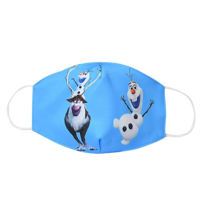 Elsa Snow Queen Children Kid Cartoon Cute PM2.5 Anti-Dust Mouth Face Mask Reusable Washable Dust Proof Soft Face Mask Breathable 2