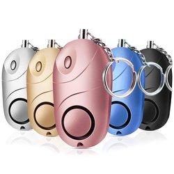 5 Pack bezpieczny dźwięk Alarm osobisty  130 db bezpieczeństwo w razie wypadku breloczek  samoobrona bezpieczeństwo bezpieczny sygnał dźwiękowy Mini LED latarka