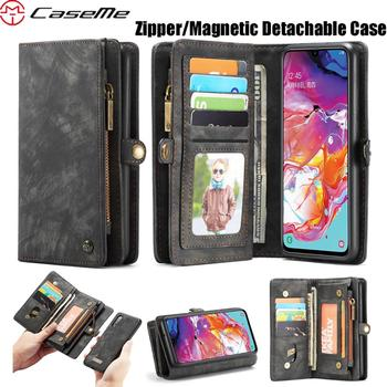 For Samsung Galaxy A51 A71 A70S A50S A30S A80 A70 A50 A40 A30 A20 A20E CaseMe Business Wallet Luxury Magnetic Leather Phone Case