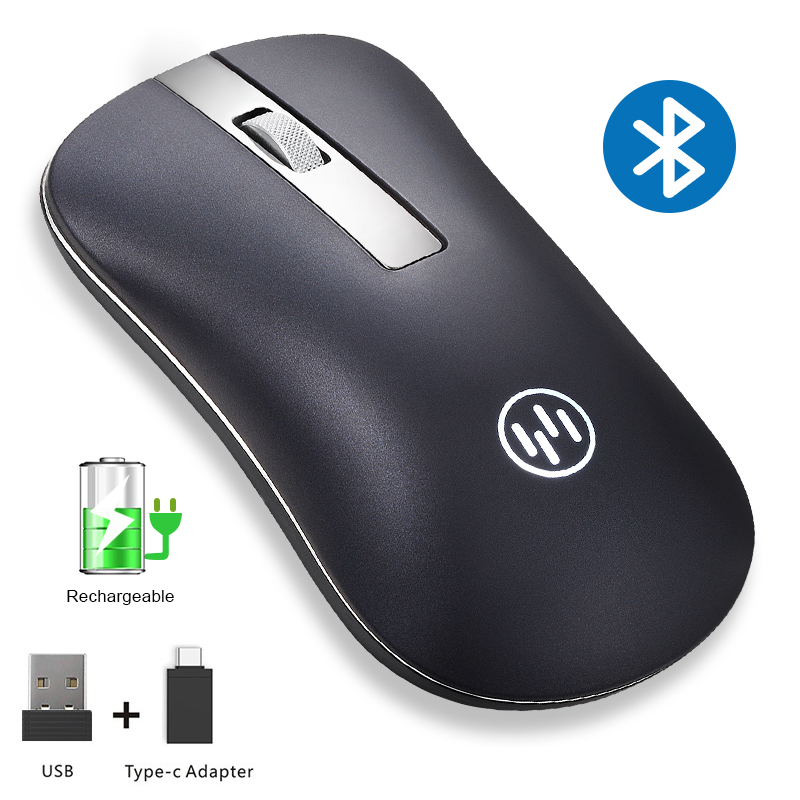 Wireless Mouse Bluetooth Computer Mouse Gamer Silent Mouse Rechargeable Ergonomic Mice Wireless Type C USB Adapter For PC Laptop