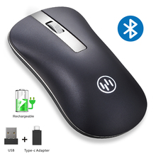 лучшая цена Wireless Mouse Bluetooth Computer Mouse Gamer Silent Mouse Rechargeable Ergonomic Mice Wireless Type C USB Adapter For PC Laptop