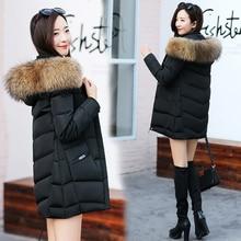 Duck Down Jackets Winter Coat Women Real Raccoon Fur Collar
