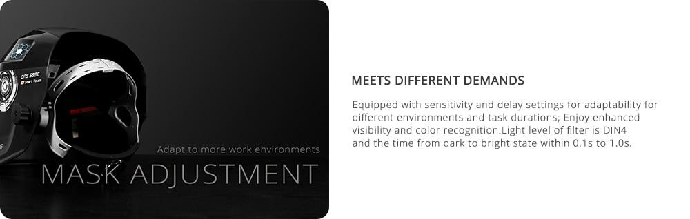 DEKO Electric Welding Mask Adjustment