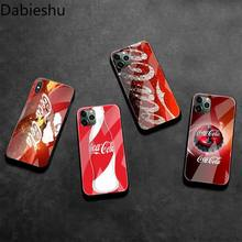 Drink cola Customer Phone Case Tempered Glass For i