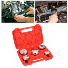 5pcs Auto Repair Filter Spanner Combination Tool Timing  Sheet Metal Tools Assembly Set Wrench Socket Organizer