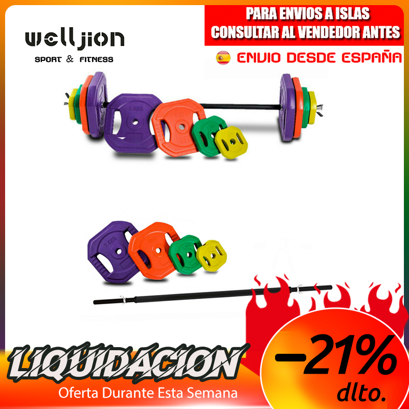 BODY PUMP SET / WEIGHT SET WITH BARS, 20KG-30KG-40KG-50KG, SHIPPING FROM SPAIN