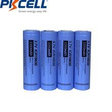 PKCELL – batterie Lithium-ion Rechargeable, 18650 mah, 3350 v, 4 pièces, pour lampe de poche, ICR18650, 3.7