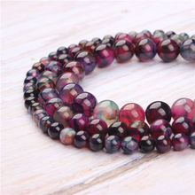 Purple Dragon Agate Natural Stone Beads For Jewelry Making Diy Bracelet Necklace 4/6/8/10/12 mm Wholesale Strand