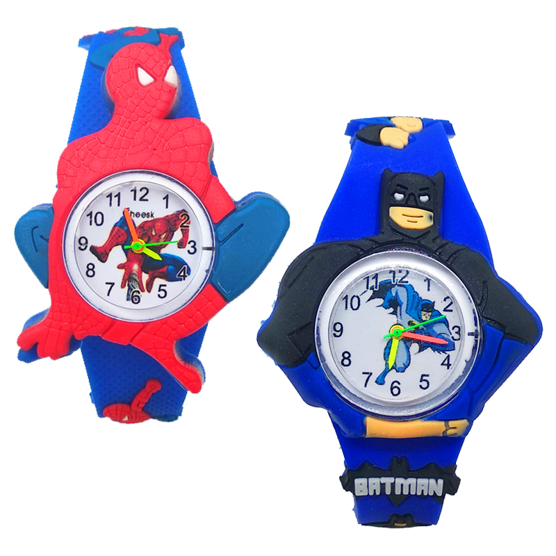 Low Price High Quality Cartoon Batman Spiderman Children Watch Electronic Digital Mickey Kids Watches Child Boy Girl Clock Gift