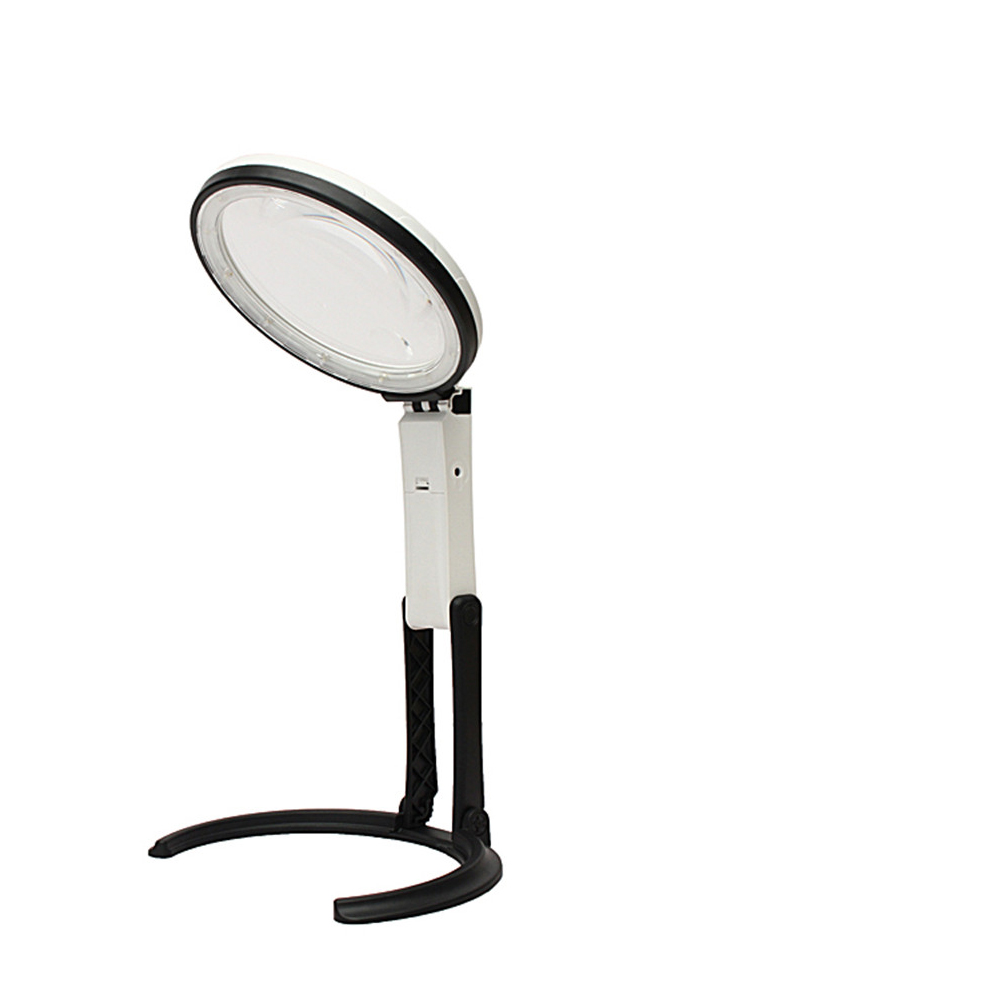 Brightness Table Lamp 12 LED Desk Folding 1.8X 5X Foldable Durable Portable Useful Handheld Working Tool Magnifier Lamp|Magnifiers| |  - title=