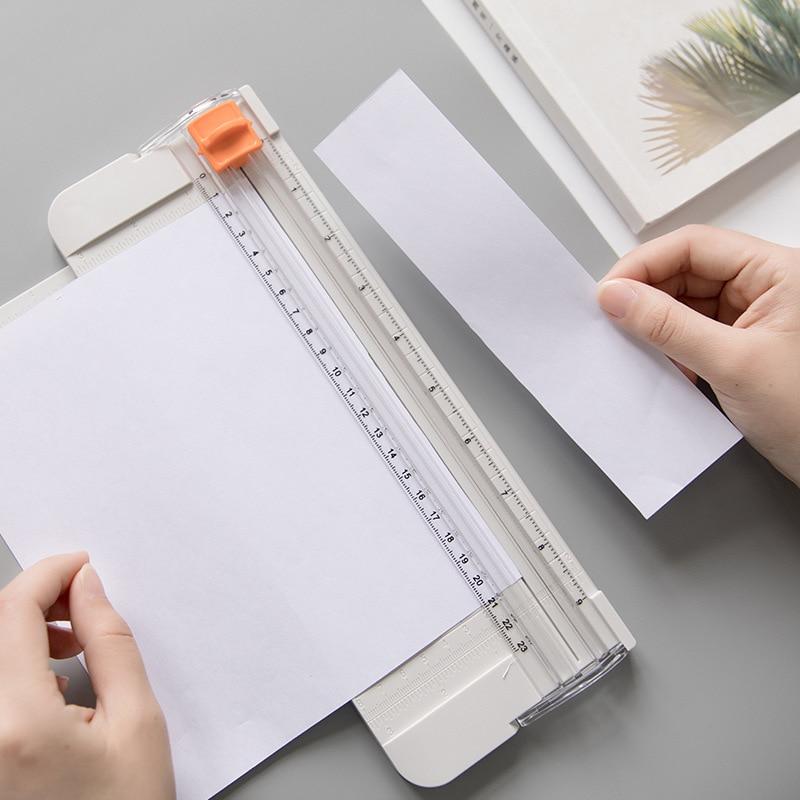 Mohamm Mini Paper Cutting Machine Paper Cutter Photo Trimmer Crafts Photo Scrapbook Blades DIY Office Home Stationery