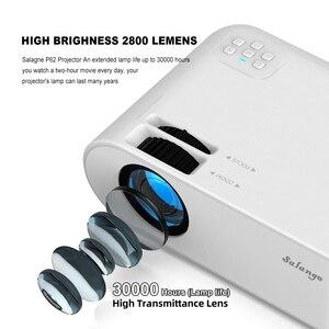 Image 3 - Salange P62 Mini Proiettore per Film Allaperto, supporto 1080P Full HD Projetor Home Theater 2800 Lumen Video Proiettore Beamer