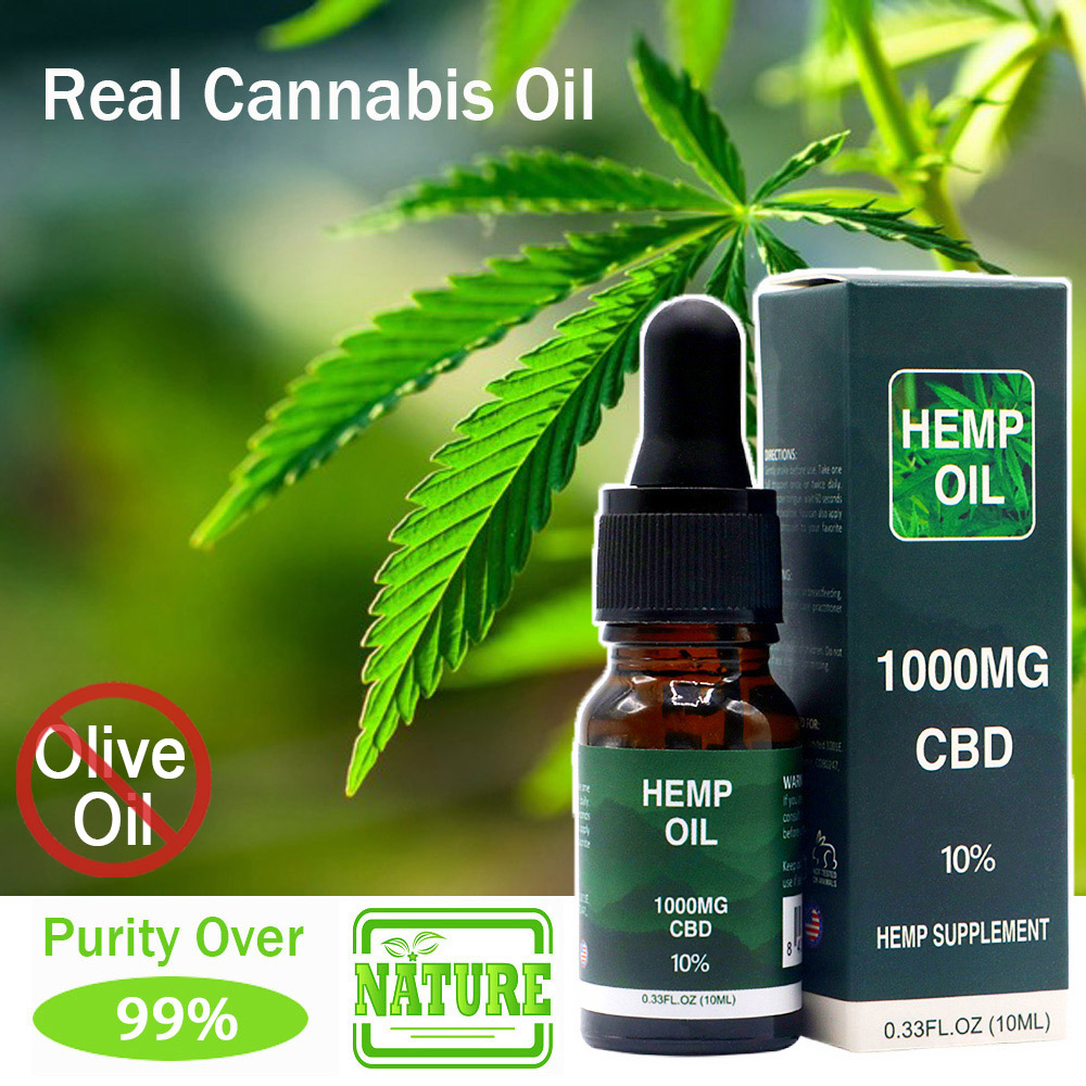 10ML Full Spectrum CBD Oil 10% Content Inside Benefit For Chronic Pain Anxiety And Insomnia Non-Thc Good For Emotion And Relax