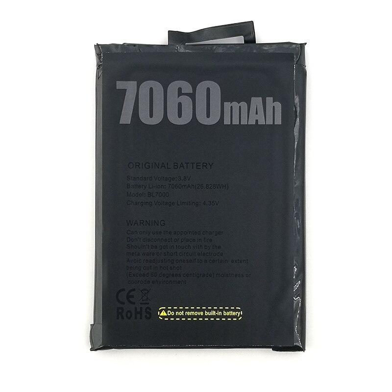 100% Original 7060mAh BL7000 batterie pour Doogee BL7000 téléphone Mobile en Stock dernière Production batterie de haute qualité
