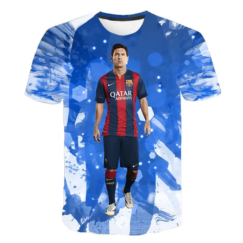 3d Printed T-shirt Summer New T-shirt Barcelona Football Club Fashion Casual T-shirt Loose And Comfortable T-shirt Size S-6xl