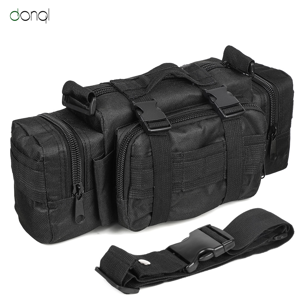 DONQL Military Waist Bag Outdoor Fishing Tackle Storage Sport Backpack Hiking Fishing Hunting Camping Travel Water Resistant Bag
