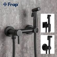 Shower Bidet FRAP Muslim Washer Spray Mixer Ducha Brass Black Hot-Water Tap Cold And