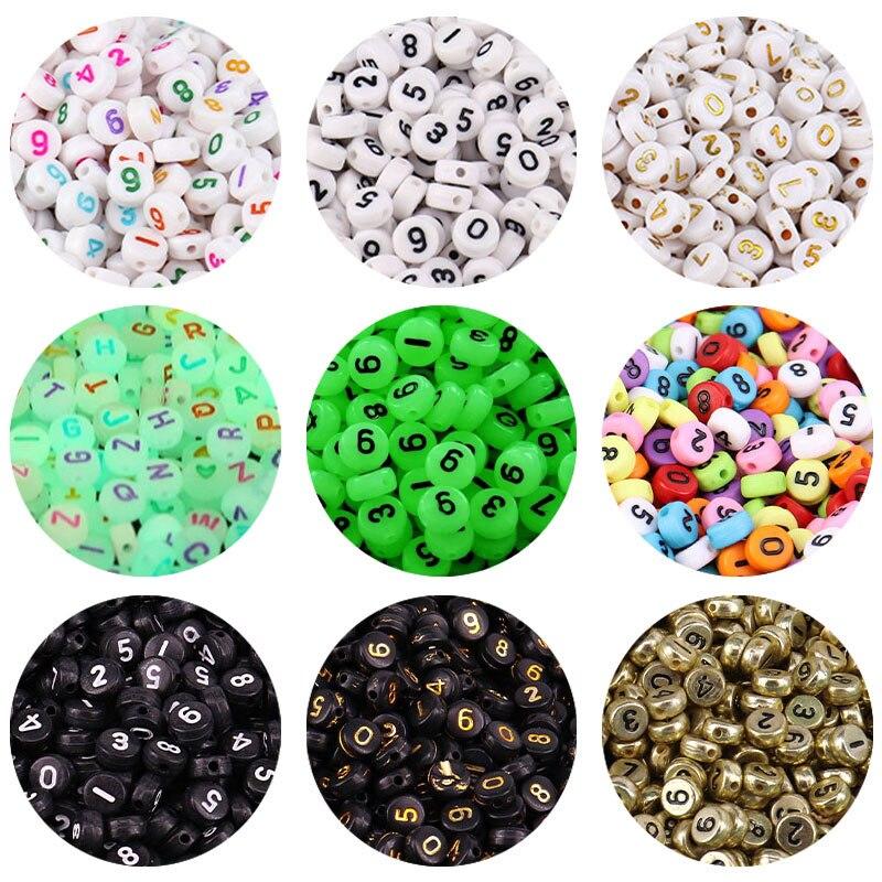 100/200 шт. 4x7 мм акрил количество бисера световой конфеты Цвет Spacer Бусины для бижутерии, материал для рукоделия детский ожерелий и браслетов