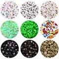 100/200 шт 4*7 мм светящийся акриловый количество бисера конфеты Цвет Spacer Бусины для изготовления ювелирных изделий DIY Детский ожерелий и брасле...