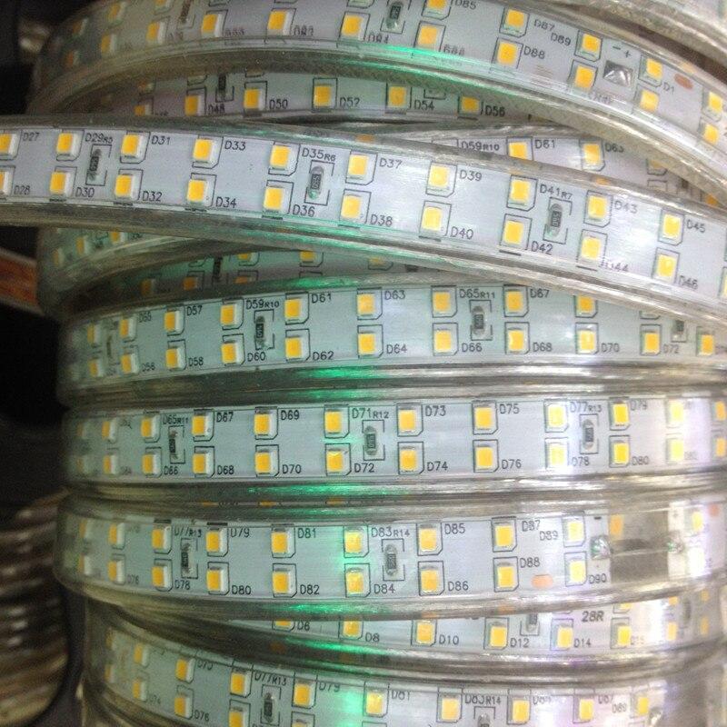 Impermeable IP68 doble fila 220 240V 100M 2835 Led tira de luz 180 leds/m cinta fría /Neutral/blanco cálido al aire libre alto brillo - 3