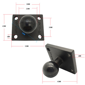 Image 5 - JINSERTA Aluminum Square Mounting Base w/ 1 inch ( 25mm ) Bubber Ball Compatible for Ram Mounts for Gorpo Camera, for DSLR,