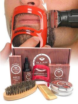 Beard Grooming Kit - Men Beard Growth Oil Beard Comb Beard Brush Beard Scissor For Beard Care 1