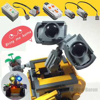 New Motorized IR RC Robot Motor Power Function Fit Lepinings Technic WALL E Figures Robot Building Block Brick Toy Gift Kid Boy