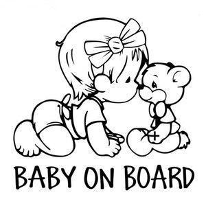 Image 1 - 14*15 سنتيمتر سيارة ملصق الطفل على متن باب السيارة نافذة التصميم ملصقات جدار دراجة نارية اكسسوارات السيارات تصفيف السيارة