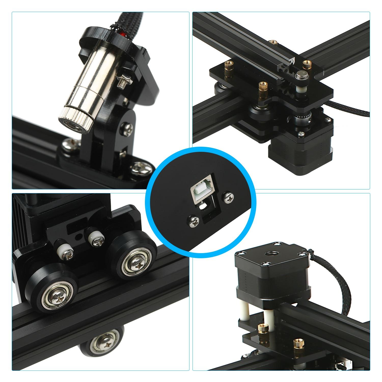 KKMOON 30W Laser Engraving Machine/Laser Engraver/Laser Logo Mark Printer