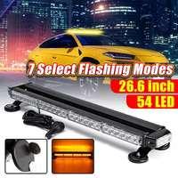 26.6 54 LED Bar Magnetic Car Truck Four Side Traffic Advisor Strobe Emergency Flash Light Bar Vehicle Warning Lightbar 7 Modes