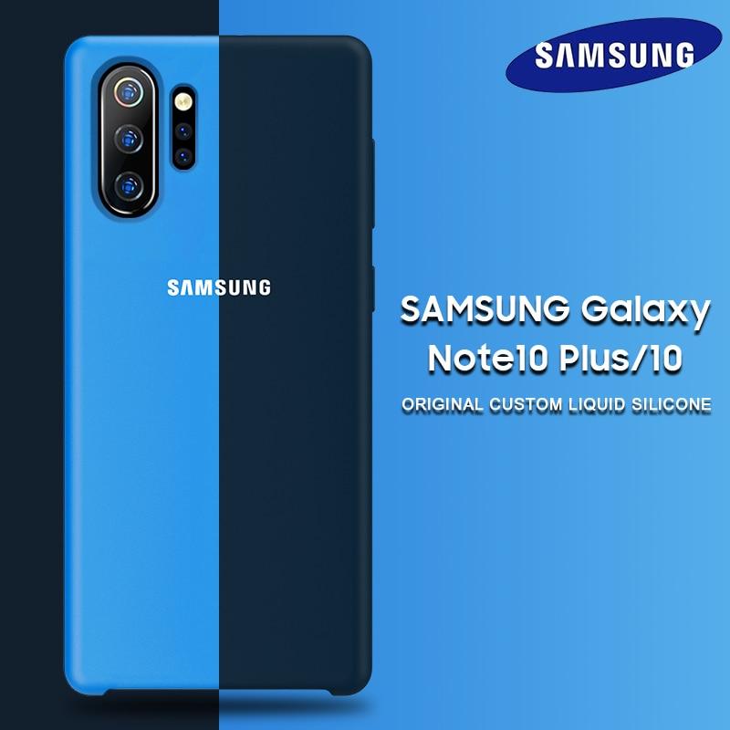 Samsung Note 10 Plus Case Original Official Samsung Galaxy S8 S9 S10 S10e Note 8 9 10 Plus 5G Pro Soft Liquid Silicone Back Case