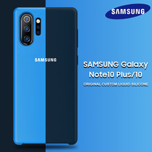 Samsung Note 10 Plus Case Original Official Samsung Galaxy S8 S9 S10 S10e Note 8 9 10 Plus 5G Pro Soft Liquid Silicone Back Case(China)