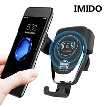 10W Car Fast Wireless Charger For iPhone 8 Plus XR XS Max X Qi Fast Wireless Car Charger For Samsung Galaxy S10 Plus S10