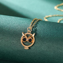 Женское ожерелье с подвеской в виде сердца совы длинная цепочка