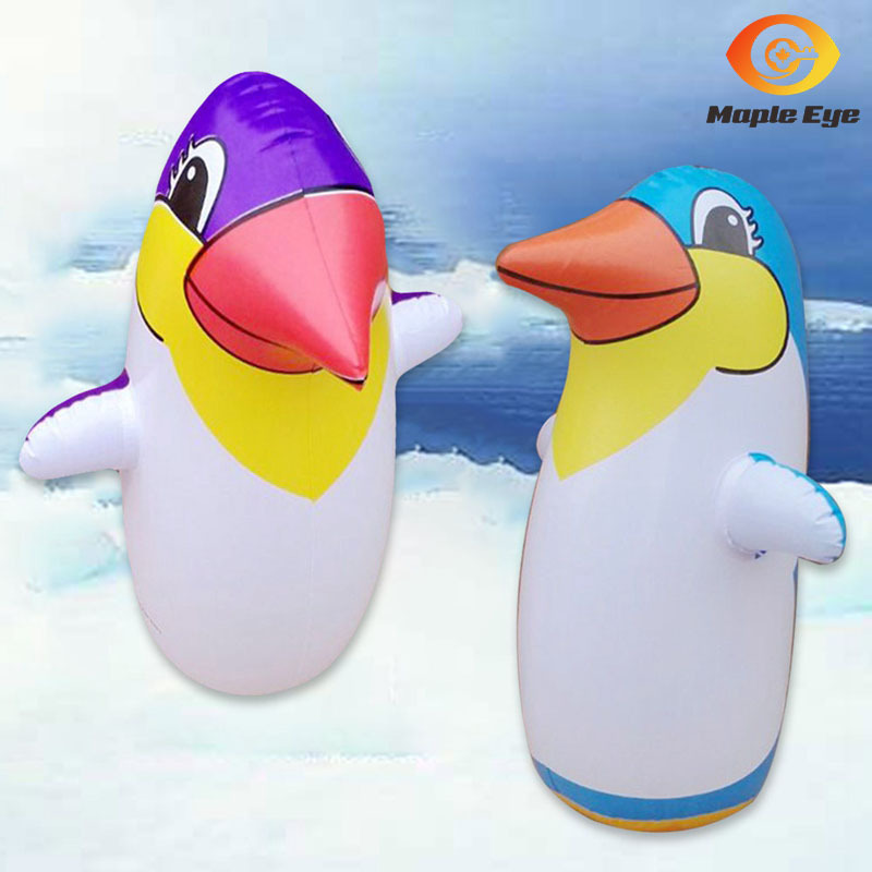 Children Inflatable Toy Inflatable Penguins Tumbler Boxing Column Children Inflatable Penguins Tumbler Manufacturers Direct Sell
