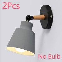 Gray NO Bulb 2Pcs