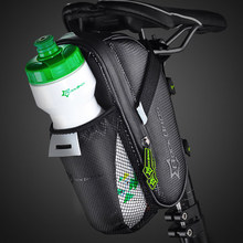 ROCKBROS Bicycle Saddle Bag Cycling Rear Seat Tail Bike Accessories With Water Bottle Pocket Waterproof MTB Bags