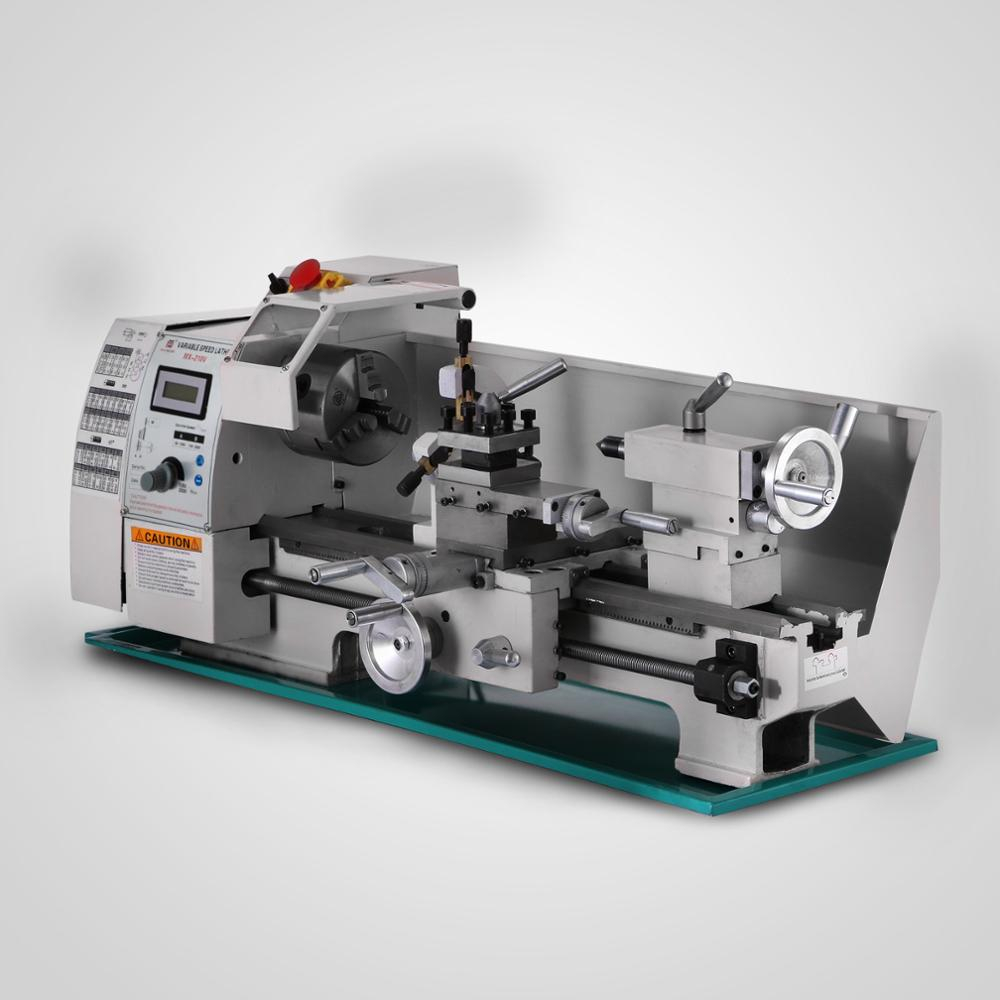 Free Shipping Metal Processing Variable Speed Lathe 8x16 Inch Metal Lathe 210 Mini Lathe For Metal  Wood Jade