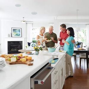 Image 5 - Herdio 4 inç 160 watt 2 yollu gömme montaj duvar tavan 2 yollu ev ses hoparlör sistemi için banyo mutfak ev 3 çift