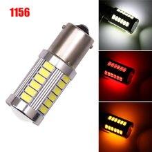 2 pces led super brilhante baixo consumo ultra longa vida carro lâmpada 1156 backup reverso luz 33-smd 5630 5730 12 v ba15s p21w #266421