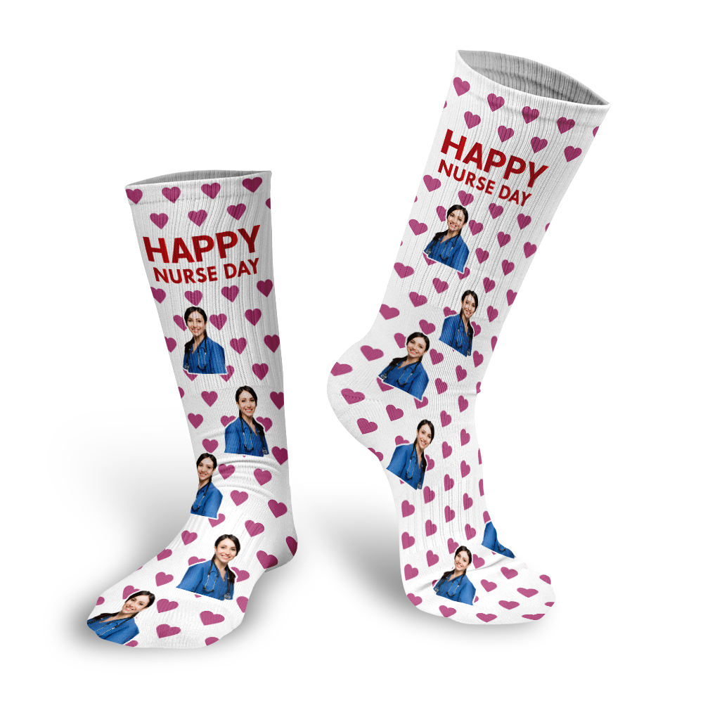 Hot Sale DIY Custom Design Nurse-Day Gift Socks Men/Women Socks Casual Sock DropShipping Wholesalers Funny Socks
