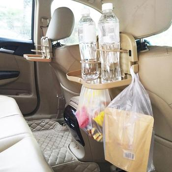 Folding Car Travel Back Seat Storage Table Drink Food Cup Tray Holder Stand Desk image