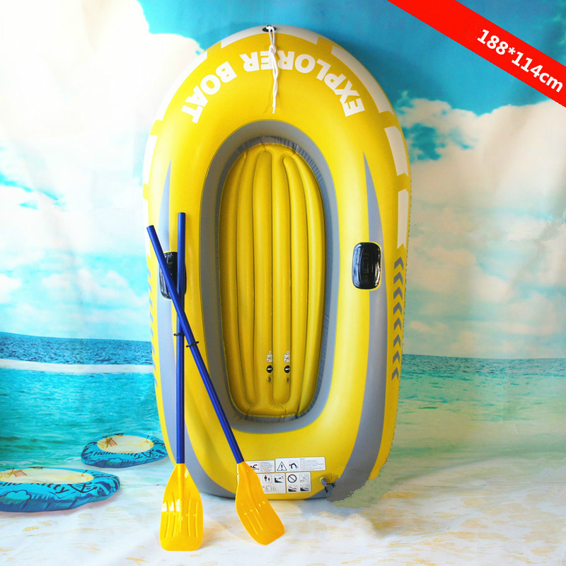 The New Inflatable Fishing Boat Thickened Durable Rafting 2-person Boat Outdoor Fishing Boat 2-person Rafting Kayak